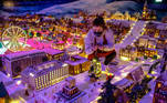 The Gingerbread Town, an annual pre-Christmas tradition consisting of miniature houses, trains, cars and ships, made from gingerbread, is pictured in Bergen, Norway December 8, 2020. NTB/Marit Hommedal via REUTERS ATTENTION EDITORS - THIS IMAGE WAS PROVIDED BY A THIRD PARTY. NORWAY OUT. NO COMMERCIAL OR EDITORIAL SALES IN NORWAY.