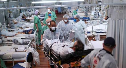 Hospital de campanha em Santo André (SP)