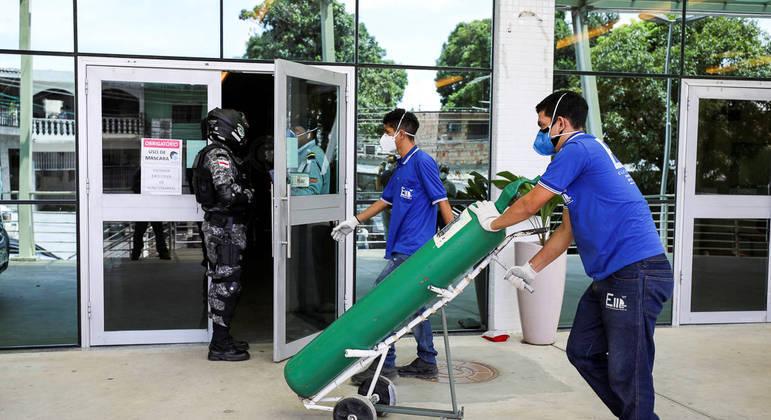 Crise deixou diversos hospitais sem oxigênio para os pacientes em Manaus