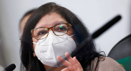 Regina Celia Silva Oliveira durante depoimento à CPI da Covid nesta terça-feira (6)