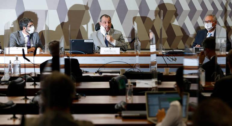 Sessão da CPI da Covid, no Senado