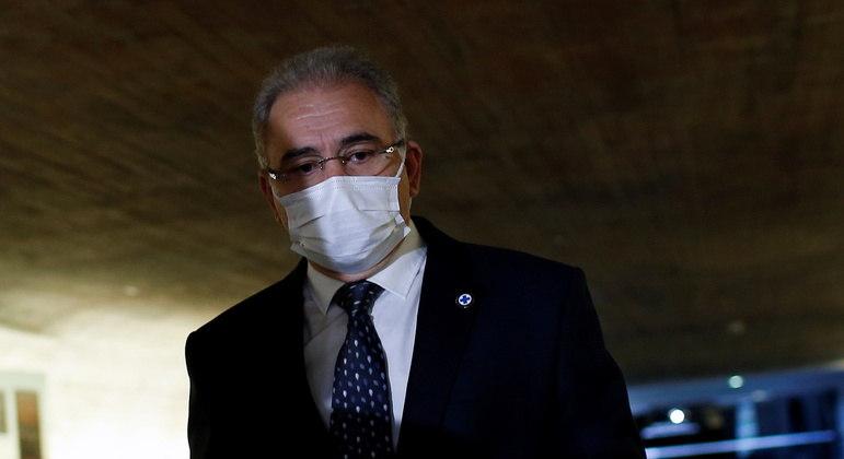 Ministro da Saúde, Marcelo Queiroga, ao ir prestar depoimento à CPI em junho deste ano