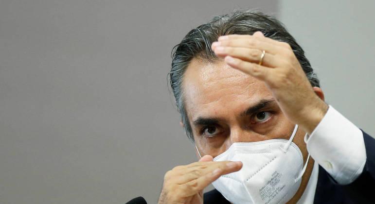 Carlos Murillo, presidente da Pfizer para América Latina, em depoimento à CPI nesta quinta (13)