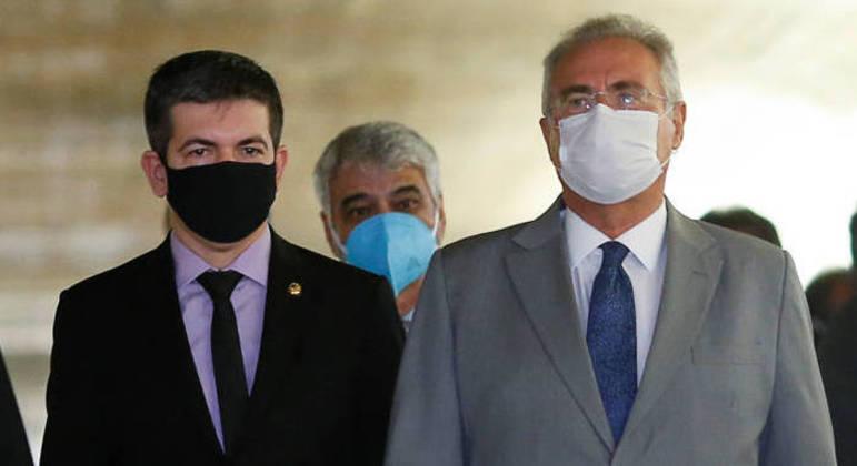 O vice-presidente da CPI da Covid, senador Randolfe Rodrigues, e o relator da comissão, senador Renan Calheiros