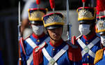 Honor guards gather before a national flag hoisting ceremony during the celebration of the country's Independence Day in Brasilia, Brazil, September 7, 2020. REUTERS/Adriano Machado