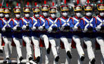 Brazilian Army soldiers participate in a parade during a Soldier's Day ceremony, in Brasilia, Brazil August 25, 2021. REUTERS/Adriano Machado