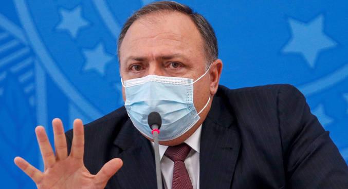 O ministro Eduardo Pazuello disse que não há data para chegada da vacina da Índia