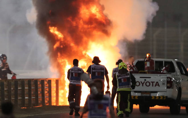 Reveja aqui imagens do impressionante acidente de Romain Grosjean