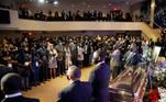People attend a memorial service for George Floyd following his death in Minneapolis police custody, in Minneapolis, Minnesota, U.S., June 4, 2020. REUTERS/Lucas Jackson