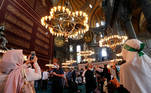People visit Hagia Sophia Grand Mosque after Friday prayers, in Istanbul, Turkey, July 24, 2020. REUTERS/Murad Sezer