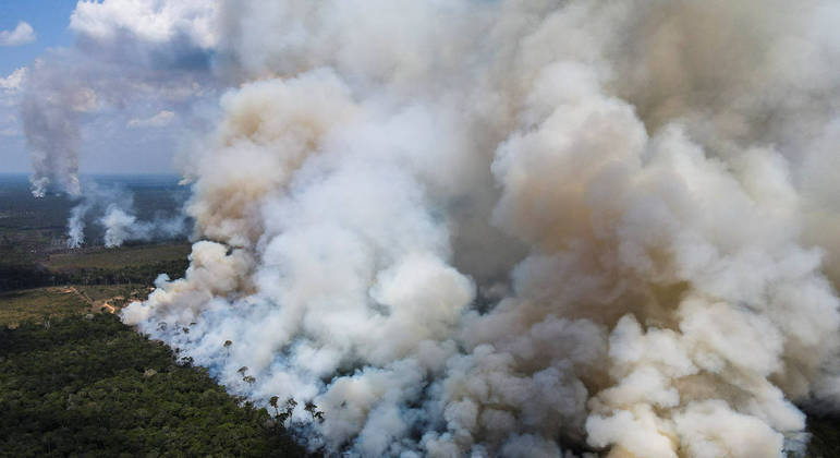 Incêndio na Floresta Amazônica em setembro de 2021
