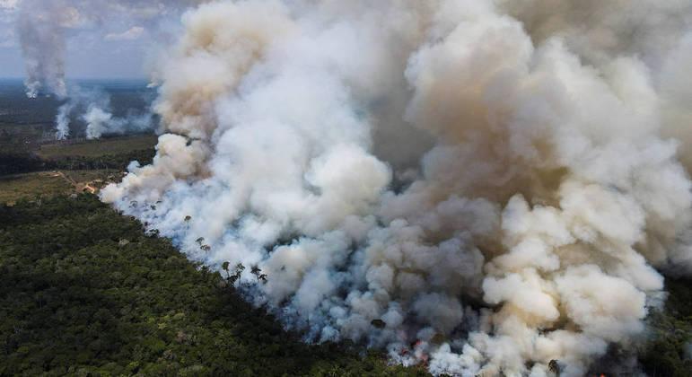 Incêndio na Floresta Amazônica registrado no começo de setembro