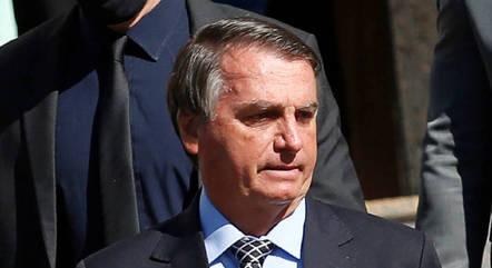 O presidente Jair Bolsonaro após sair de templo religioso em Brasília
