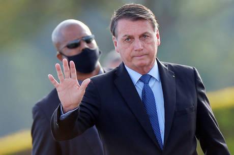 Bolsonaro voltou a falar com apoiadores no Alvorada