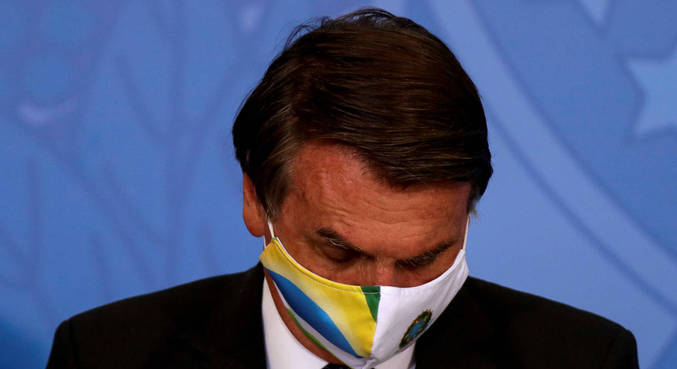O presidente Jair Bolsonaro, durante evento em Brasília