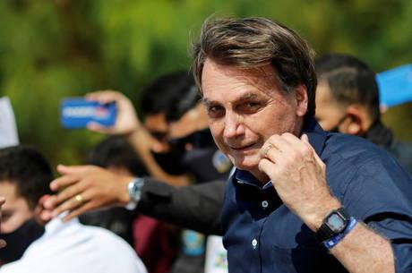 Bolsonaro participou de ato, no domingo, em Brasília