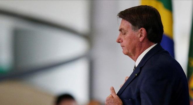 Na imagem, o presidente Jair Bolsonaro (sem partido)