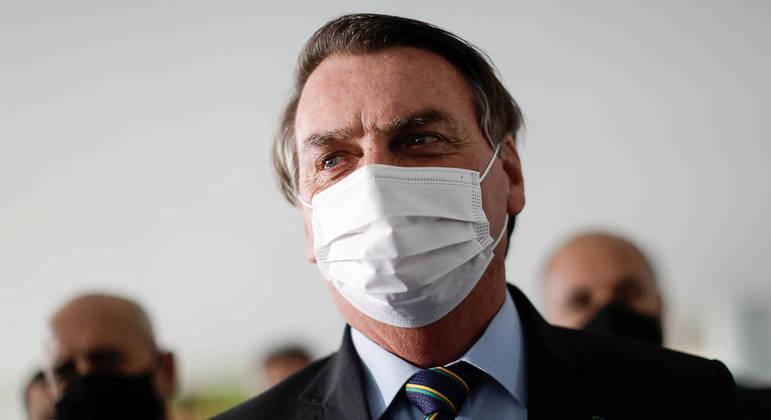 Jair Bolsonaro após reunião, fora da agenda oficial, com o presidente da Câmara, Arthur Lira