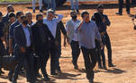 razil's President Jair Bolsonaro gestures as he arrives to the inauguration ceremony of a temporary field hospital, amid the coronavirus disease (COVID-19) outbreak, in Aguas Lindas de Goias, state of Goias Brazil, June 5, 2020. REUTERS / Adriano Machado