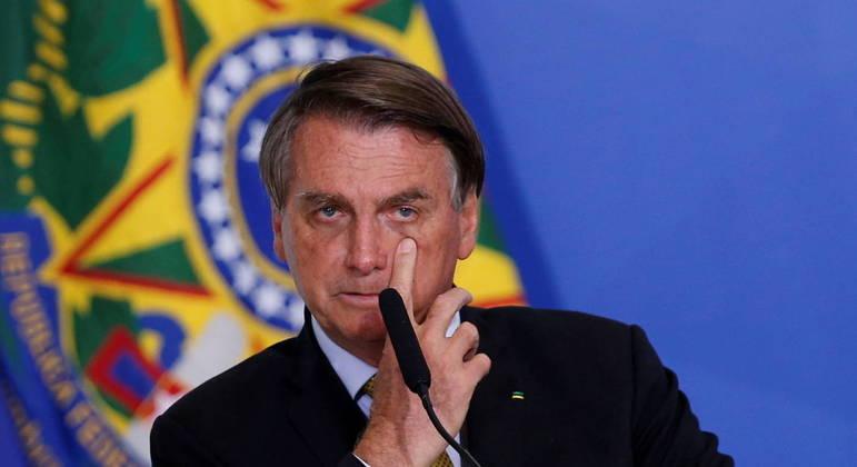 Presidente Jair Bolsonaro falou com apoiadores em frente ao Palácio do Alvorada