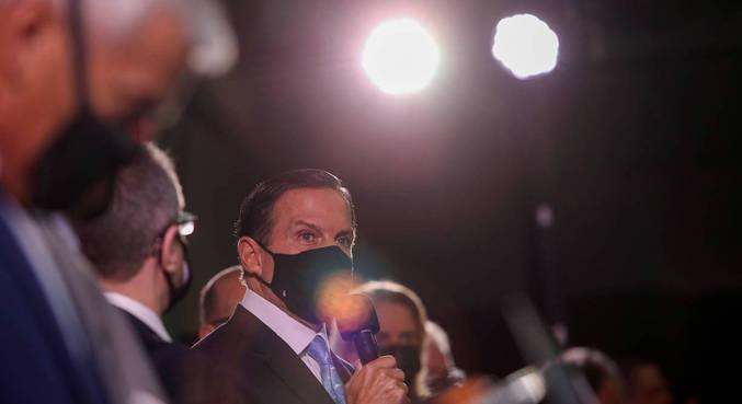 Governador João Doria (PSDB) fala sobre vacina CoronaVac contra covid-19