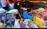Volunteers gather aid supplies to be distributed for those affected by Tuesday's blast in Beirut's port area, Lebanon August 5, 2020. REUTERS/Aziz Taher