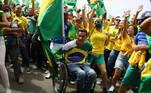 Supporters of President Jair Bolsonaro take part in a march of support in Rio de Janeiro, Brazil, September 7, 2021. REUTERS/Pilar Olivares