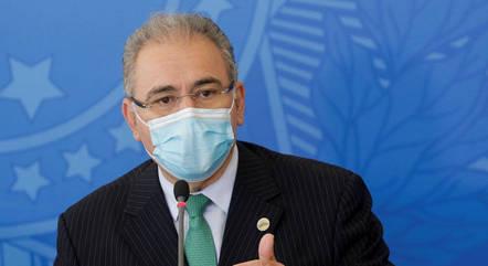 Na imagem, ministro Marcelo Queiroga (Saúde)