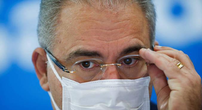 Ministro da Saúde Marcelo Queiroga anunciou redução do intervalo entre as doses