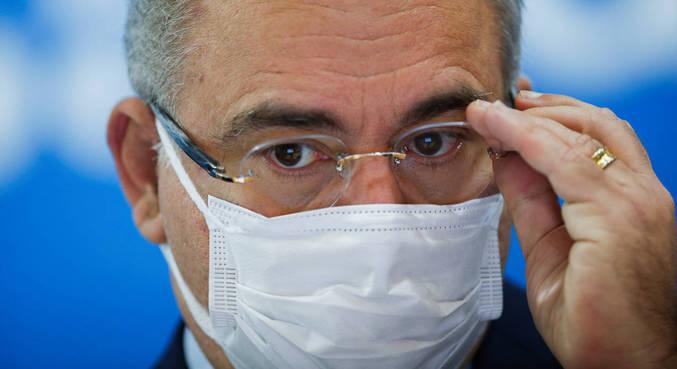 O ministro da Saúde Marcelo Queiroga participou de coletiva de imprensa nesta quarta-feira (18)