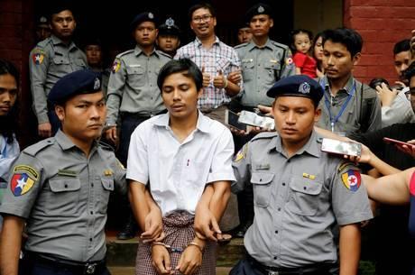 Wa Lone e Kyaw Soe Oo foram condenados em setembro de 2018