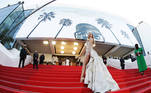 """The 74th Cannes Film Festival - Screening of the film """"Tre piani"""" (Three Floors) in competition - Red Carpet Arrivals - Cannes, France, July 11, 2021. Kimberley Garner poses. REUTERS/Eric Gaillard TPX IMAGES OF THE DAY"""