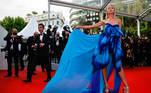 """The 74th Cannes Film Festival - Screening of the film """"France"""" (On a Half Clear Morning) in competition - Red Carpet Arrivals - Cannes, France, July 15, 2021. Ann-Sophie Thieme poses. REUTERS/Sarah Meyssonnier"""