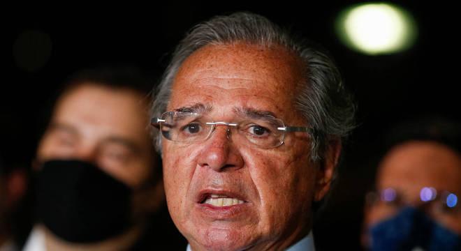 Paulo Guedes durante entrega da primeira fase da reforma tributária