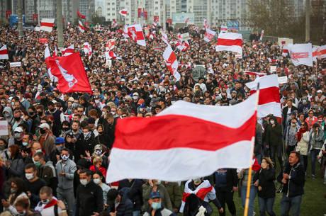 Na imagem, protesto contra governo feito no dia 04