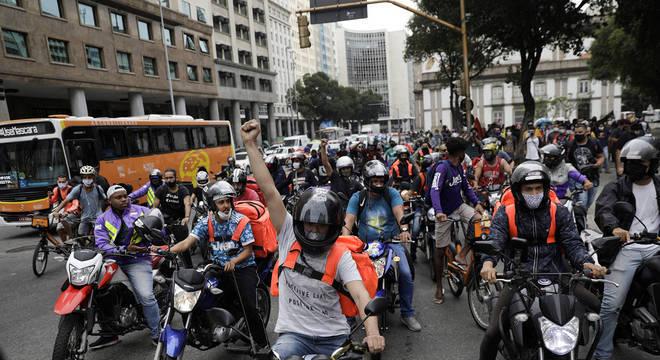 Entregadores protestam em várias cidades do Brasil