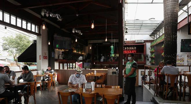 Restaurante que reabriu na Vila Madalena, zona oeste de São Paulo