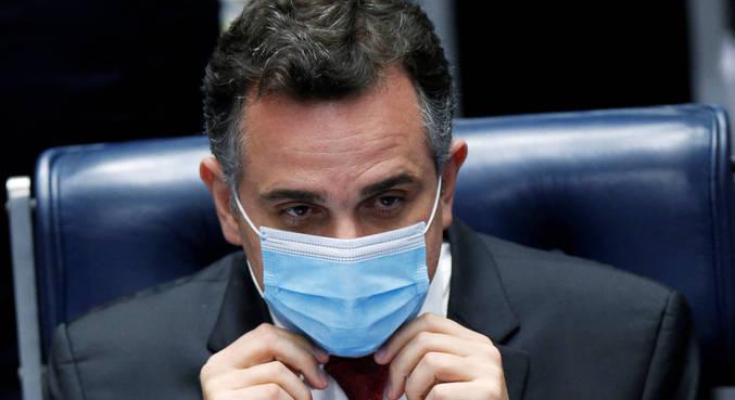 O novo presidente, senador Rodrigo Pacheco (DEM-MG)