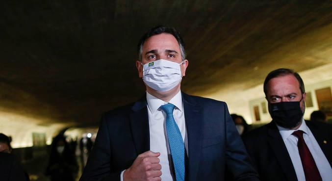 O presidente do Senado, Rodrigo Pacheco, que se encontrará com Fux nesta quarta