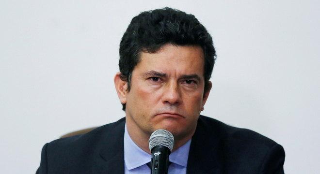 Na imagem, Sergio Moro em coletiva que anunciou própria demissão