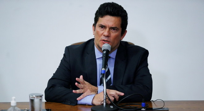 Sérgio Moro, no dia que decidiu entregar o cargo de Ministro da Justiça