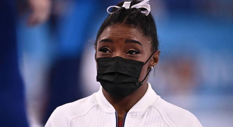 A ginasta Simone Biles desistiu de seguir competindo na Olimpíada de Tóquio