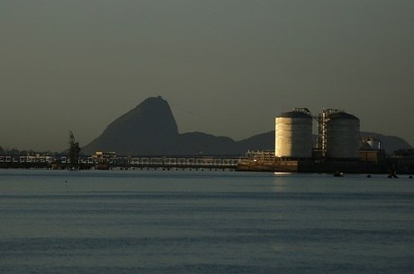 Tanques de gás no Rio de Janeiro