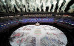 Tokyo 2020 Olympics - The Tokyo 2020 Olympics Opening Ceremony - Olympic Stadium, Tokyo, Japan - July 23, 2021. Fireworks explode during the Opening ceremony REUTERS/Fabrizio Bensch