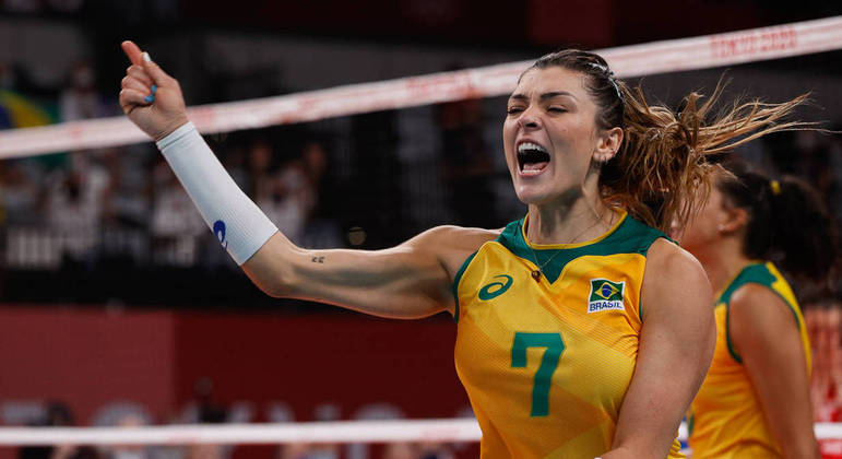 Rosamaria, jogadora da seleção brasileira de vôlei