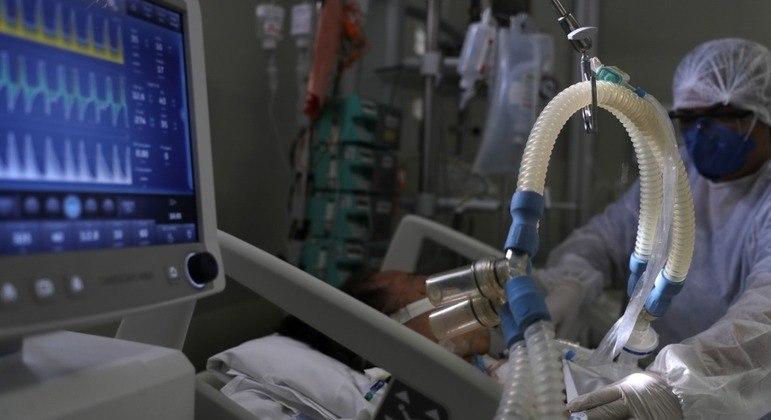 Leito de UTI em hospital de São Paulo