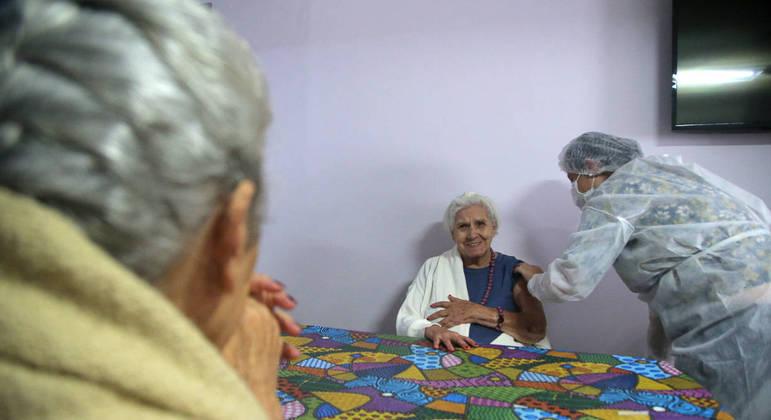 O maior número de vacinados pertence ao estado de  São Paulo