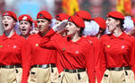 Russia's Young Army cadets march during the Victory Day Parade in Red Square in Moscow, Russia, June 24, 2020. The military parade, marking the 75th anniversary of the victory over Nazi Germany in World War Two, was scheduled for May 9 but postponed due to the outbreak of the coronavirus disease (COVID-19). Host photo agency/Iliya Pitalev via REUTERS