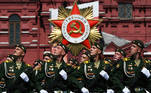 Russian servicemen march during the Victory Day Parade in Red Square in Moscow, Russia, June 24, 2020. The military parade, marking the 75th anniversary of the victory over Nazi Germany in World War Two, was scheduled for May 9 but postponed due to the outbreak of the coronavirus disease (COVID-19). Host photo agency/Ramil Sitdikov via REUTERS
