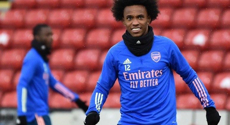 O jogador Willian, atualmente no Arsenal